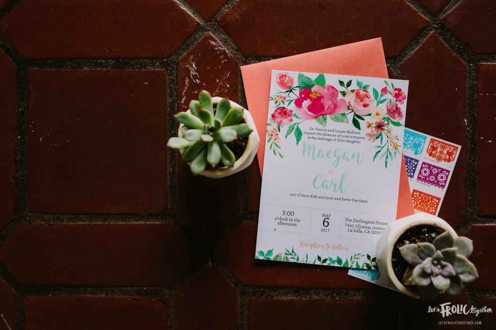 Custom May Flowers Wedding Invitation Suite Design  Photography:  Let's Frolic Together  Wedding Planning & Design:  Love Marks the Spot  Venue:  The Darlington House
