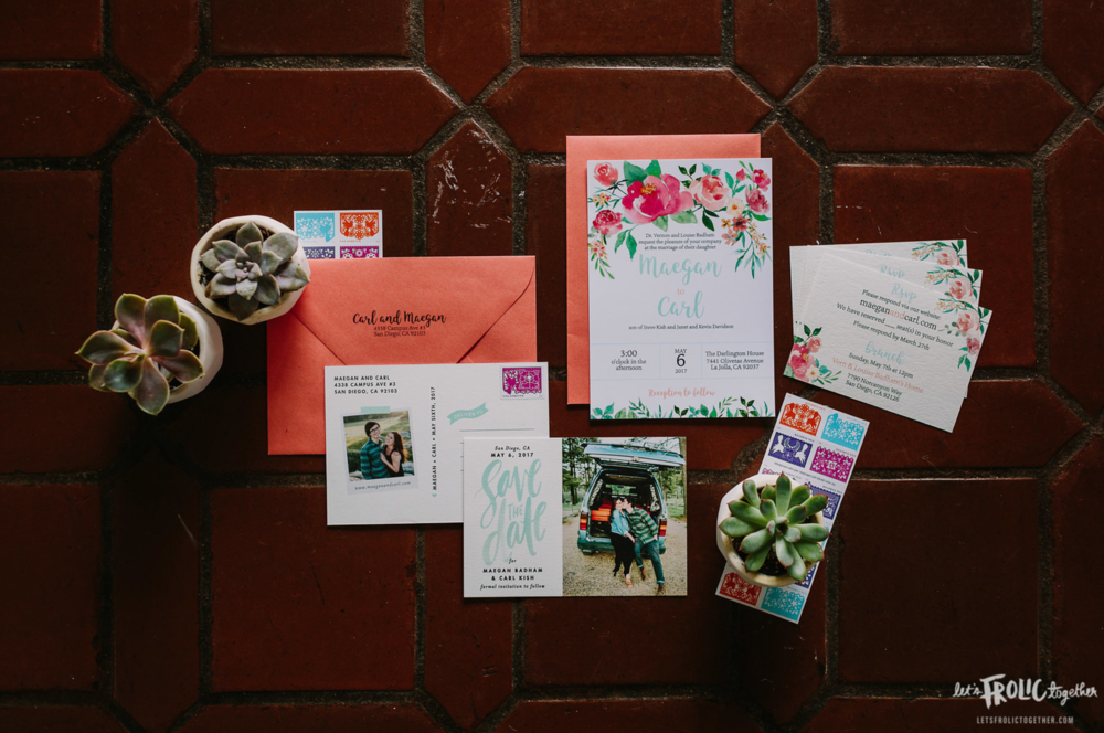 Custom May Flowers Wedding Invitation Suite Design (not including Save the Dates)  Photography:  Let's Frolic Together  Wedding Planning & Design:  Love Marks the Spot  Venue:  The Darlington House