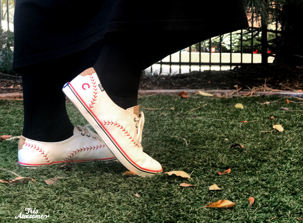 Keds sent me these ADORABLE kicks to help celebrate.  You too can own them here
