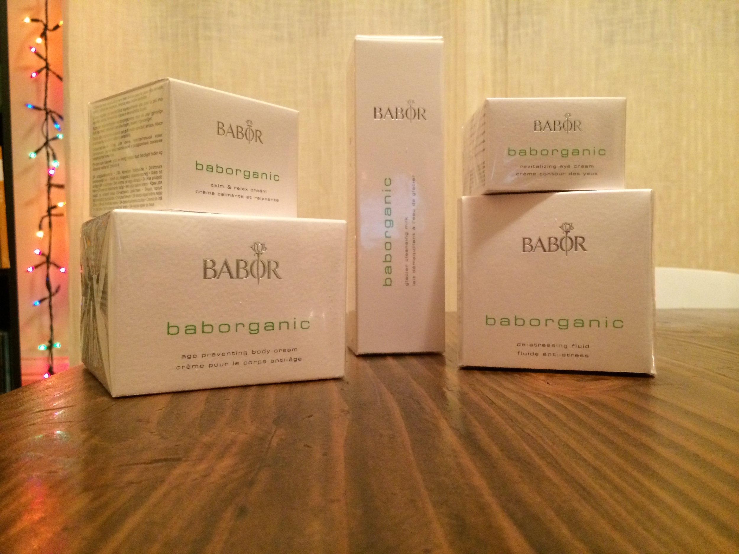Christmas came early with Babor's Green Glamor Line: Baborganic.