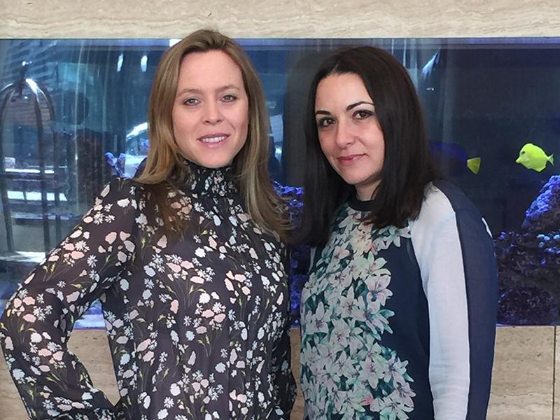Michelle Vale & Elena Corsano, co-founders of Soak Slides.