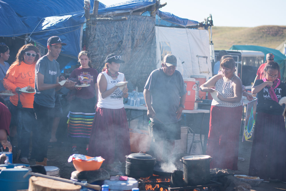 People from the Navajo Nation were participating in cooking.