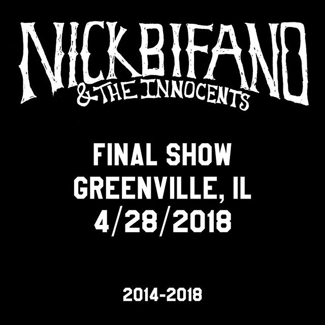 Turning the page on a really good chapter in order to finish writing the rest of the book.  Who are we now . . . You'll find out soon  Final NBI show 4.28.18 - Greenville, IL - 7pm  It's been everything I dreamed it would be and more. Thank you for sharing it with us -NB
