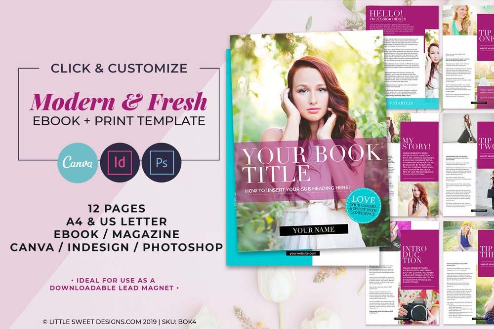 12 Page eBook & Magazine Template
