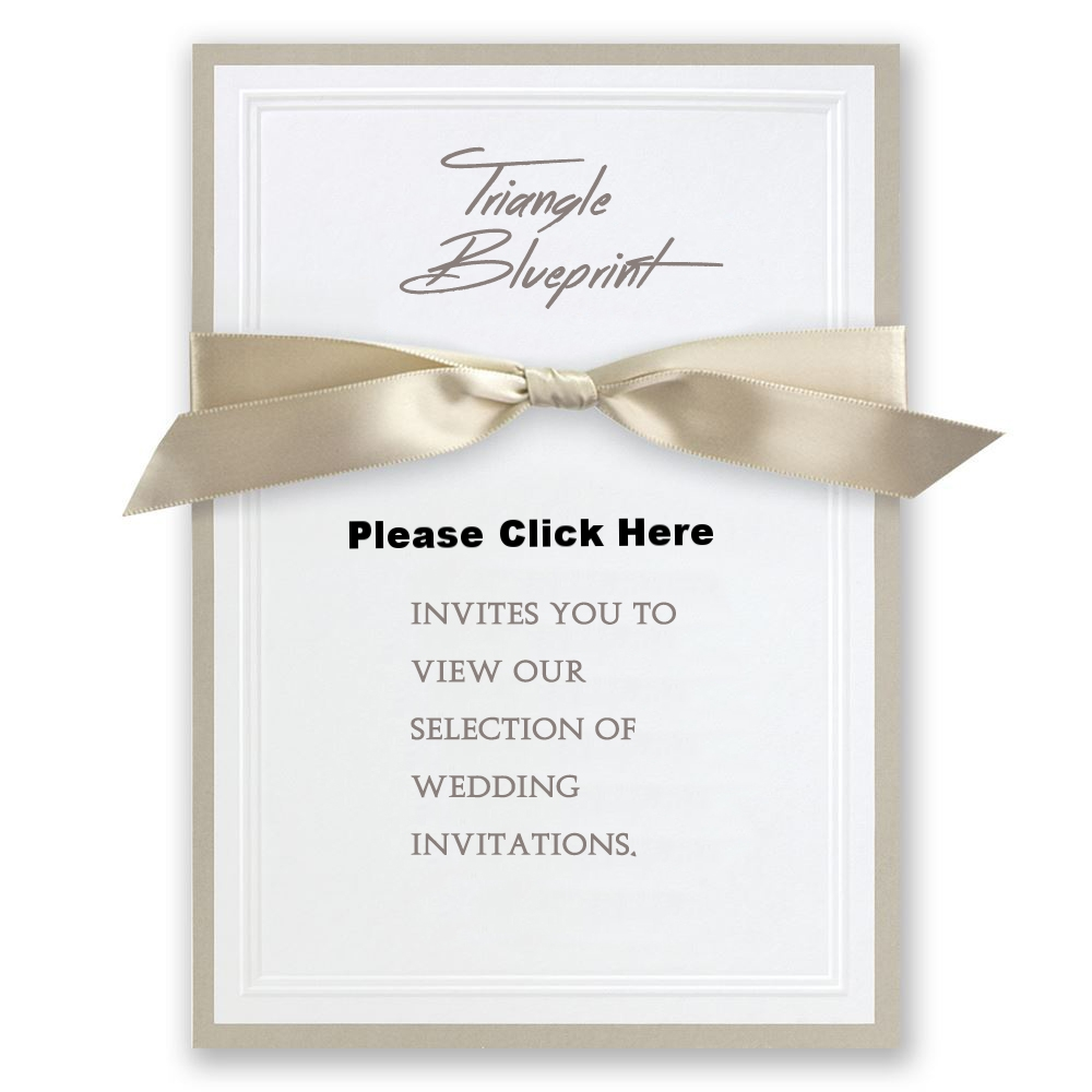 Wedding Invitations — Triangle Blueprint