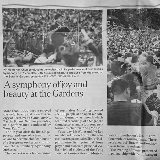 Thank you @straitstimes for this wonderful review - the musicians deserve all the credit for playing so brilliantly! . . . . . . . . #proud #news #alumnifestivalorchestra #brahms #academicfestivaloverture #backtoschool  #instaradio #instamusic #instanowplaying #instaart #musichistory  #composer #bach #beethoven  #piano  #mozart #opera #chopin  #concert  #violin #jazz  #orchestra #symphonyoftheseas