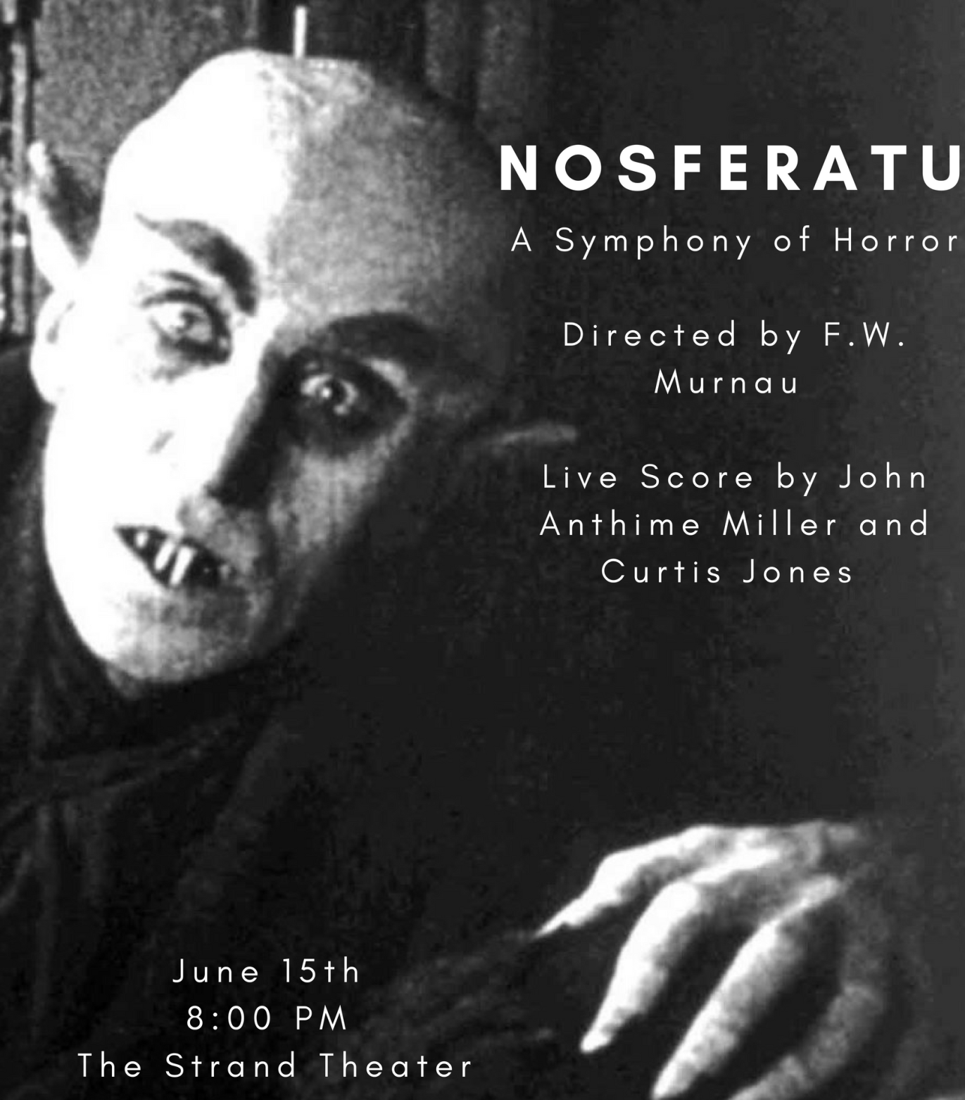 Anthime Miller and Curtis F  Jones Presents the film Nosferatu with