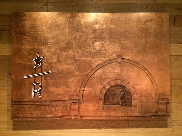 Capitol Hill No. 19 - Starbucks Roastery. Photo transfer and acrylic on copper foil on wood. On permanent installation at the Seattle Starbucks on 7th, between Pike and Pine.