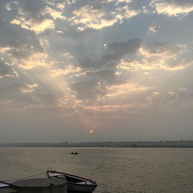 Sunrise over the Ganges #india #ganga #sunrise