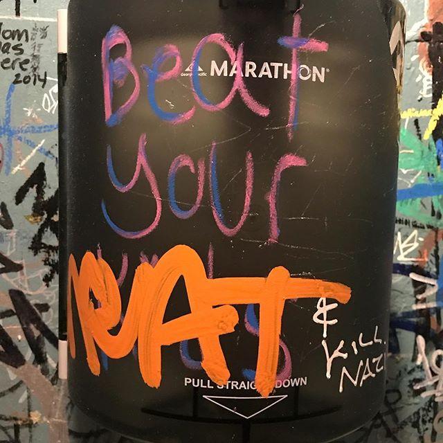 Words to live by #beatyourmeatandkillnazis