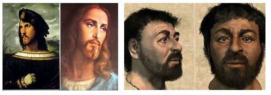 Cesare Borgia                                        Forensically Reconstructed Jesus