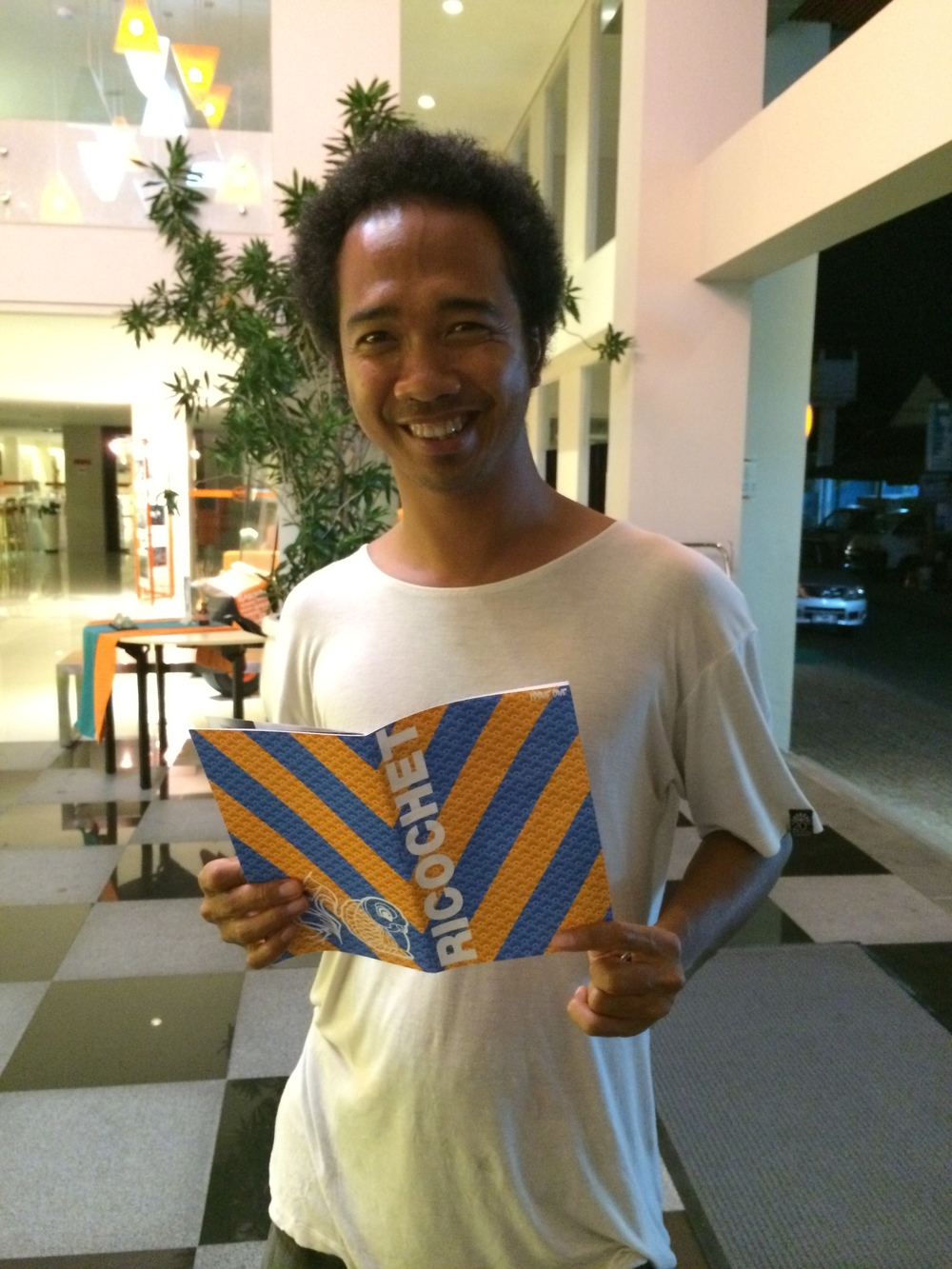 Made with his copy in Bali, Indonesia