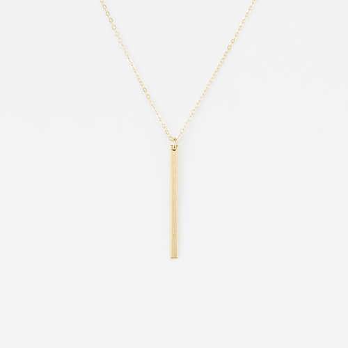 vertical numeral necklace image roman personalized cut out bar