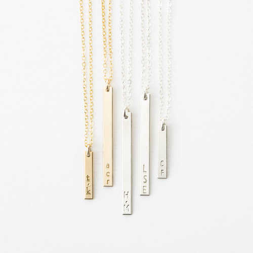 product material main necklace vertical bar personalized
