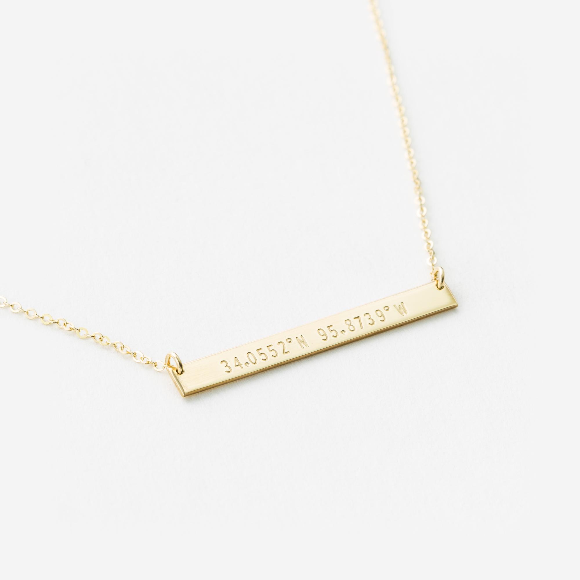 6c86eeec4b057 Custom Coordinates Necklace — GLDN