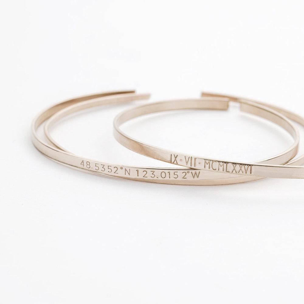GLDN Personalized  Cuff Bracelets