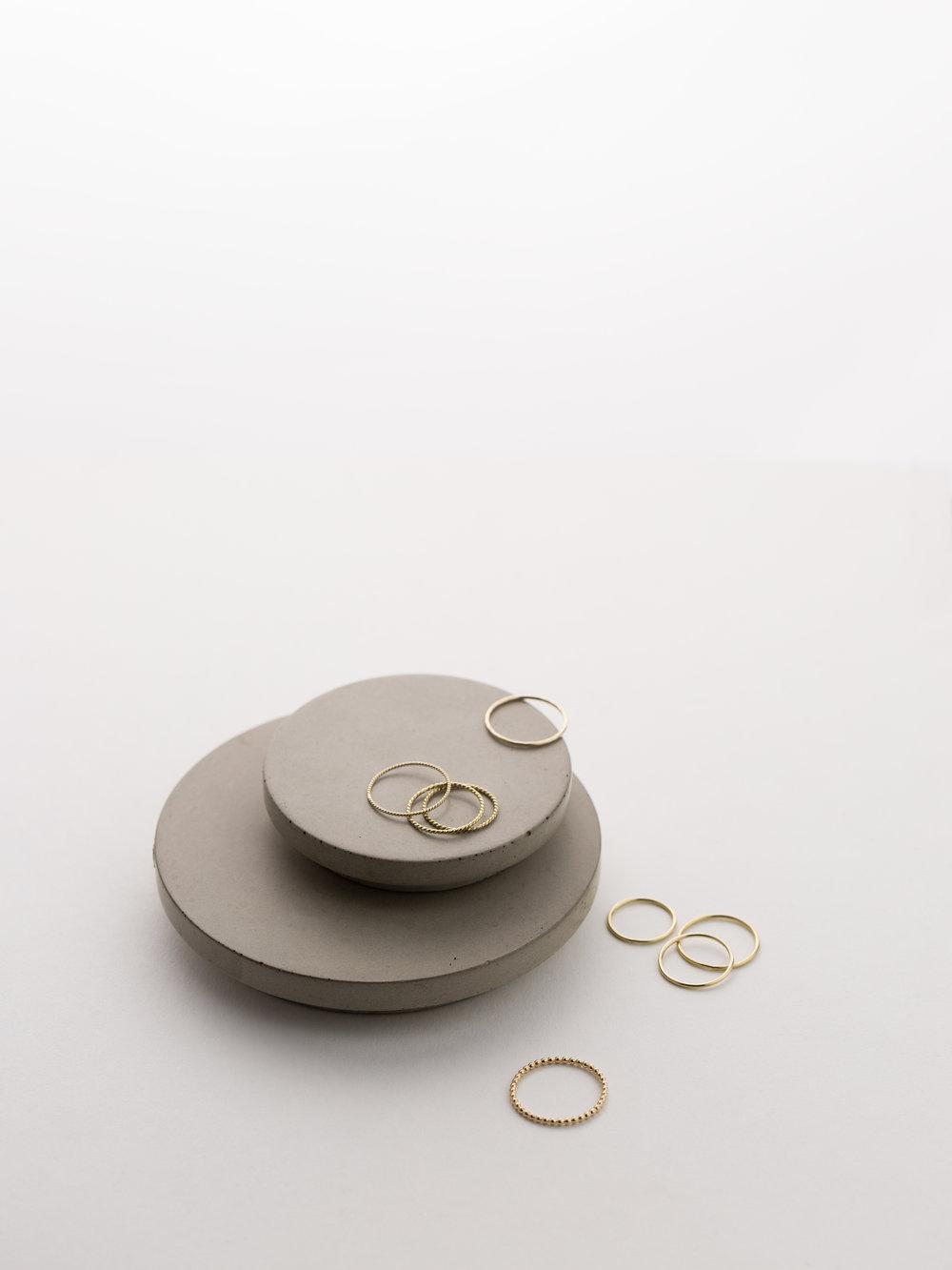 Concrete Vessel (Lids):  CULINARIUM , Rings:  ADRIA ,  AIRE  by GLDN