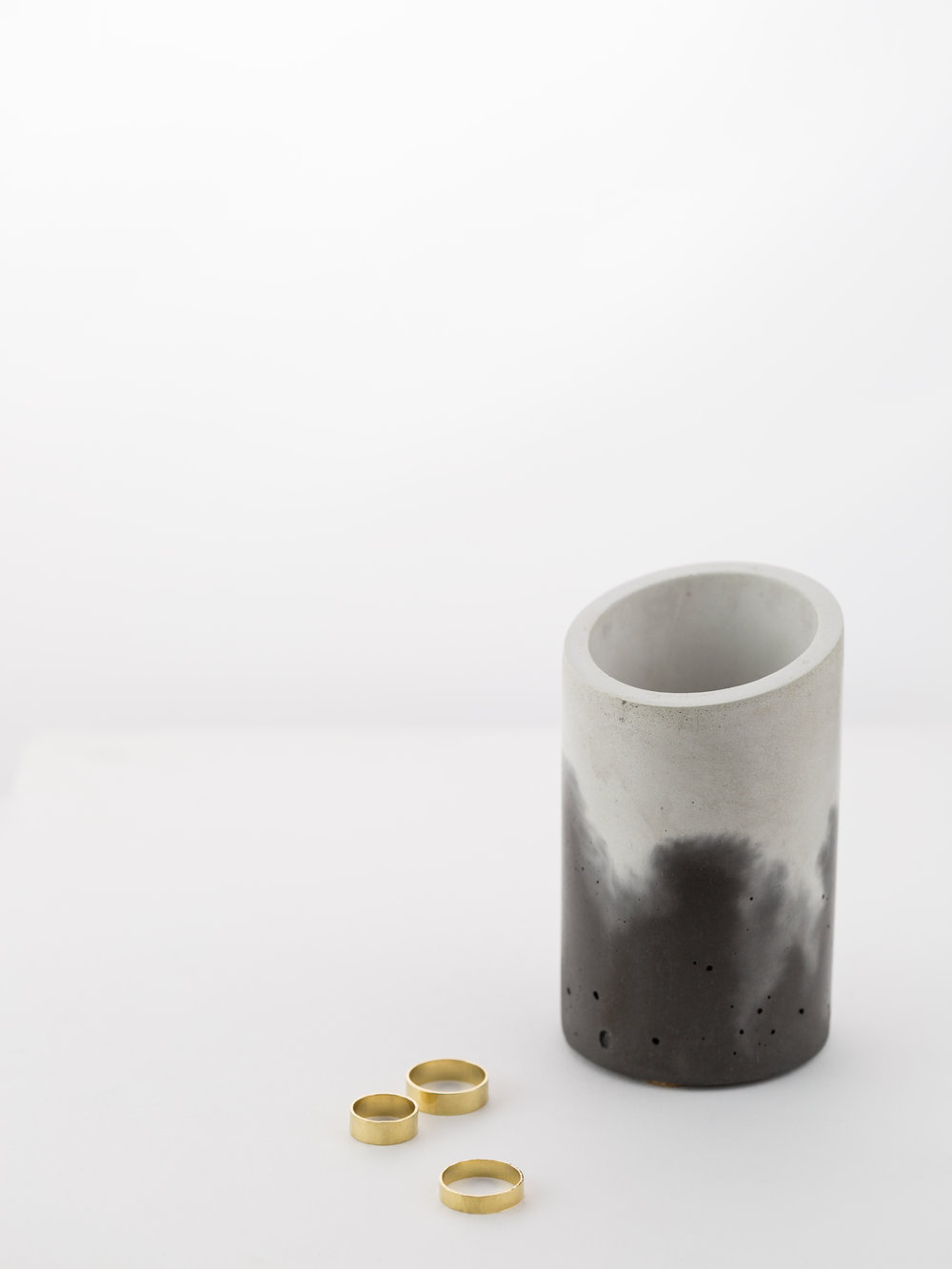 Concrete Vessel: IN.SEK.  Rings: by GLDN, coming soon.