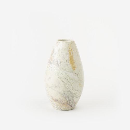 Medium Natural Stone Vase W1 Gldn