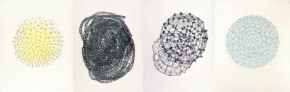 spherical woodcuts Anna Hepler