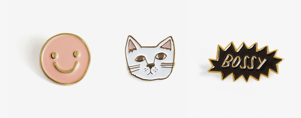 enamel pins trendy cat