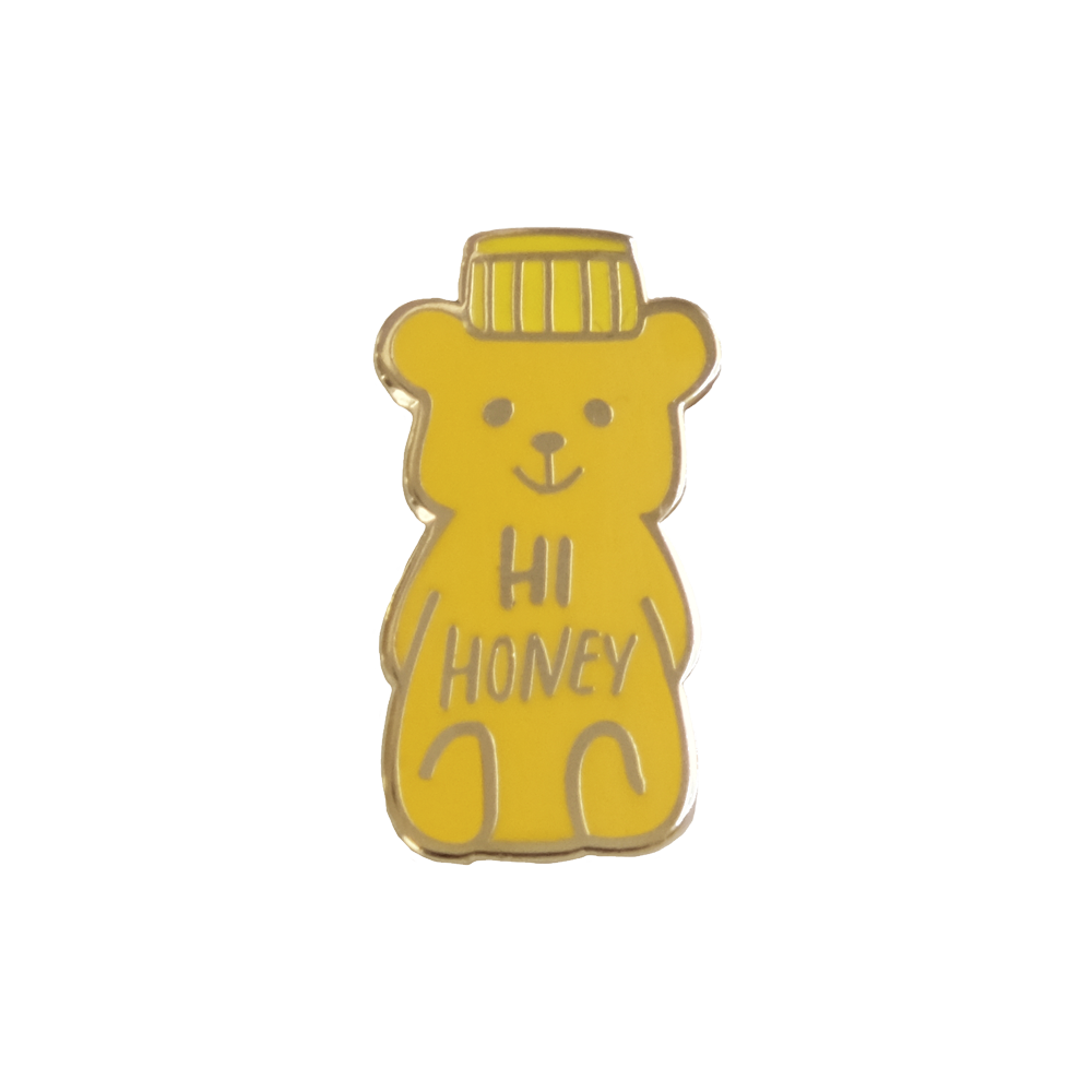 honey bear enamel pins