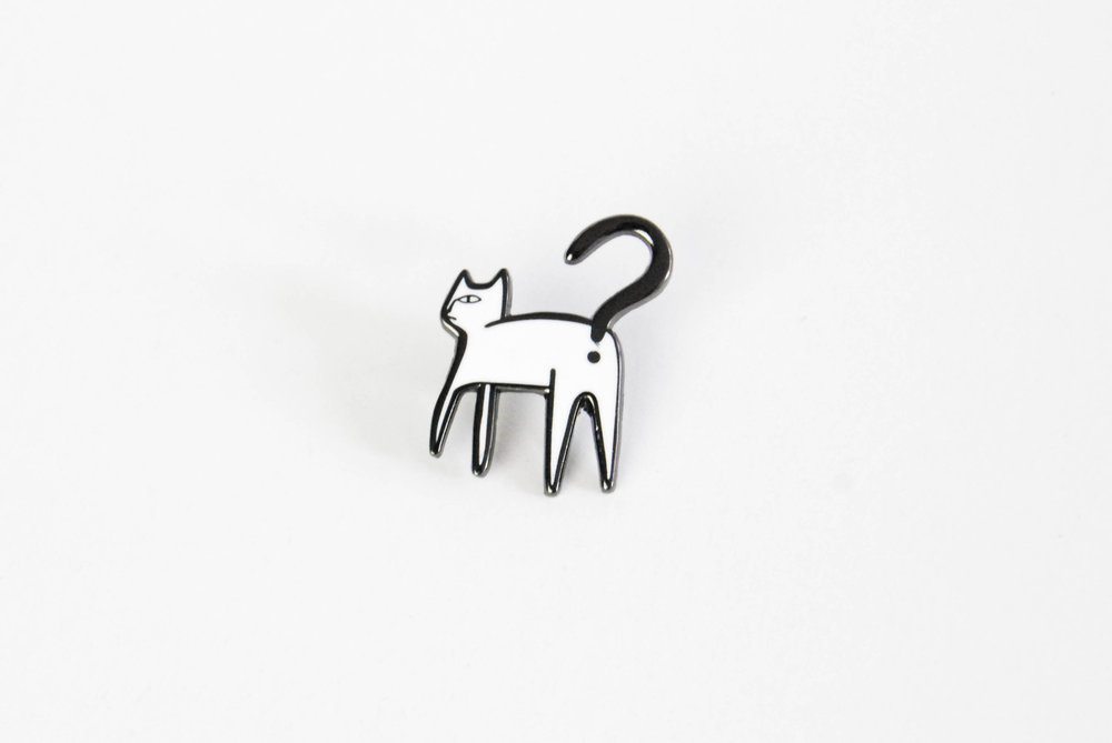 cat enamel pin artist