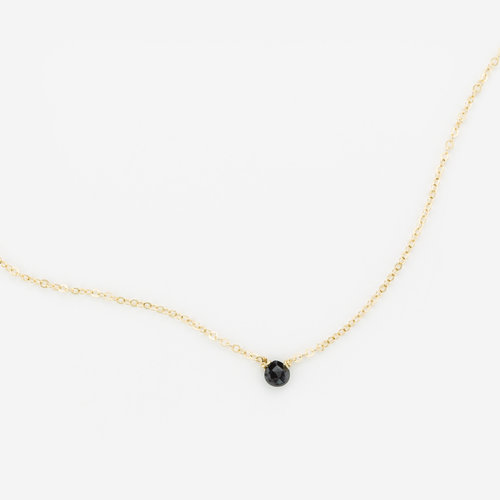 Tiny gem necklace melanite black garnet gldn tiny gem necklace melanite black garnet aloadofball Gallery