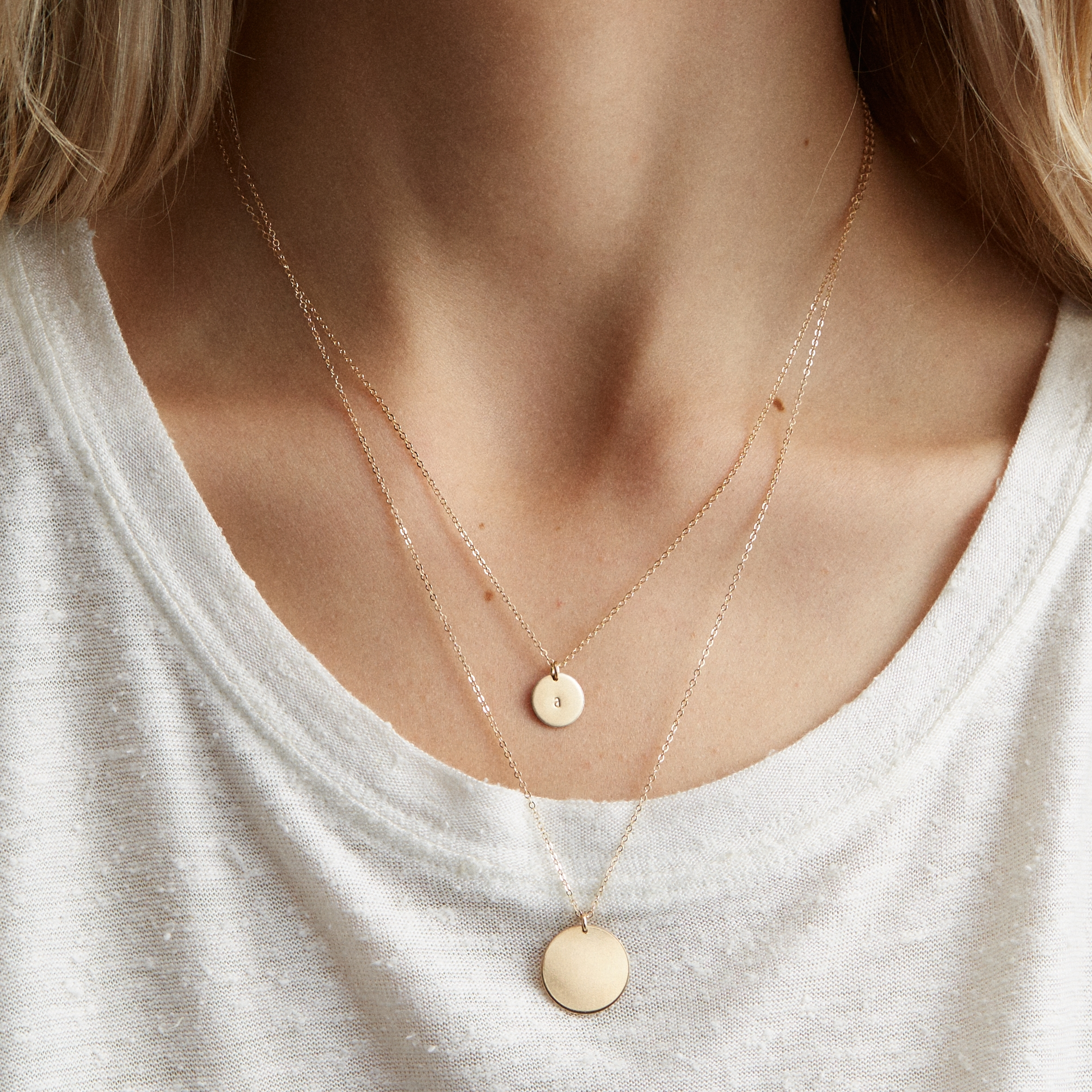 c13c2779d Layered Set: Marama + Personalized Lor Disk Necklaces — GLDN