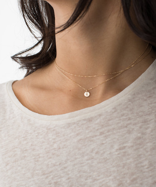 layered brass loading necklaces drim jewellery laon double necklace plated