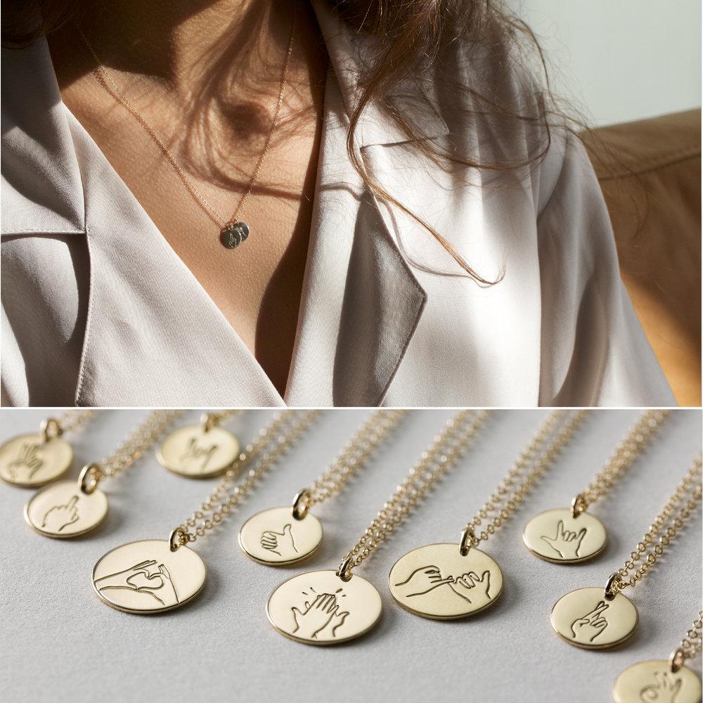 Hand gestures necklaces gldn hand gestures necklaces buycottarizona Gallery