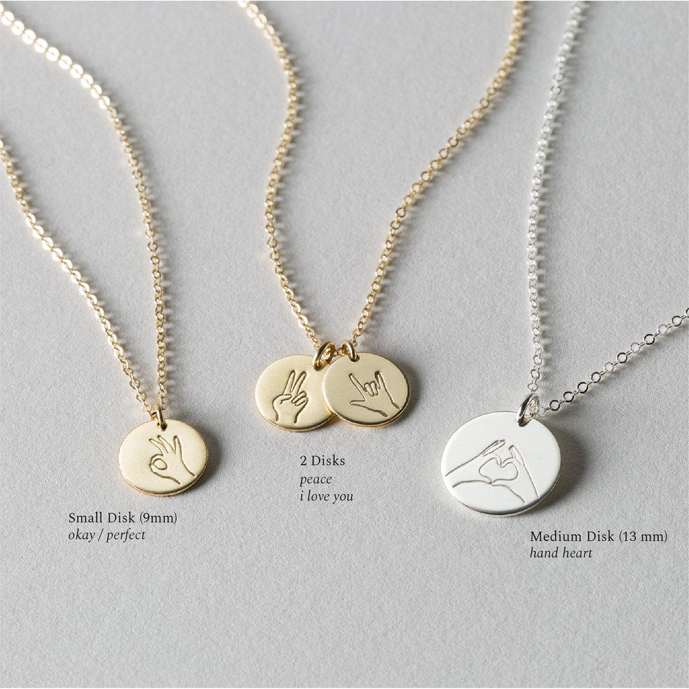 hand gestures necklaces gldn