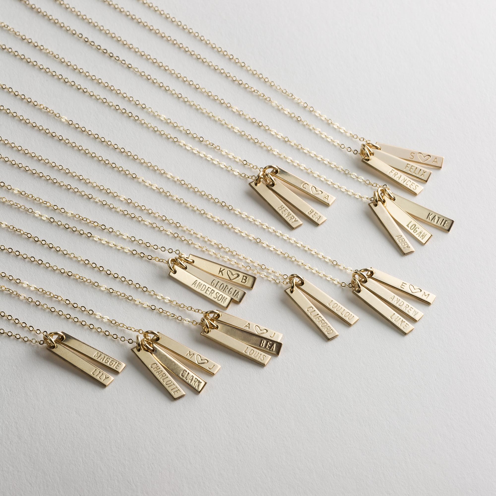 e12ad0b16 Ono Vertical Bar Tags Necklace — GLDN