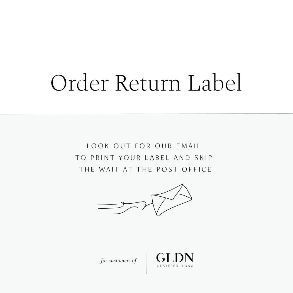 u s return label gldn