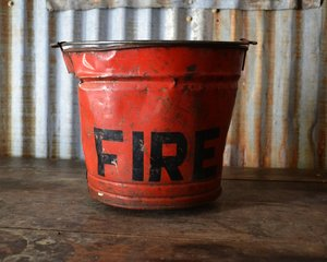 Vintage Galvanized Fire Bucket