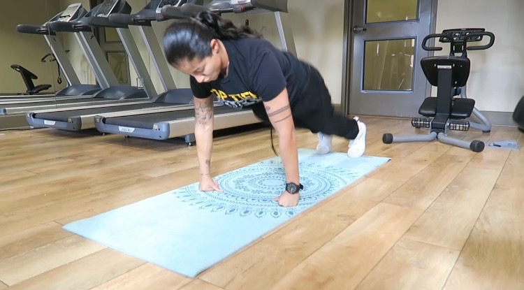 Burpees in home workout