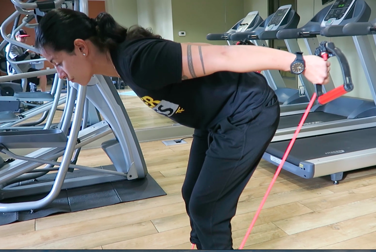 in home personal trainer triceps