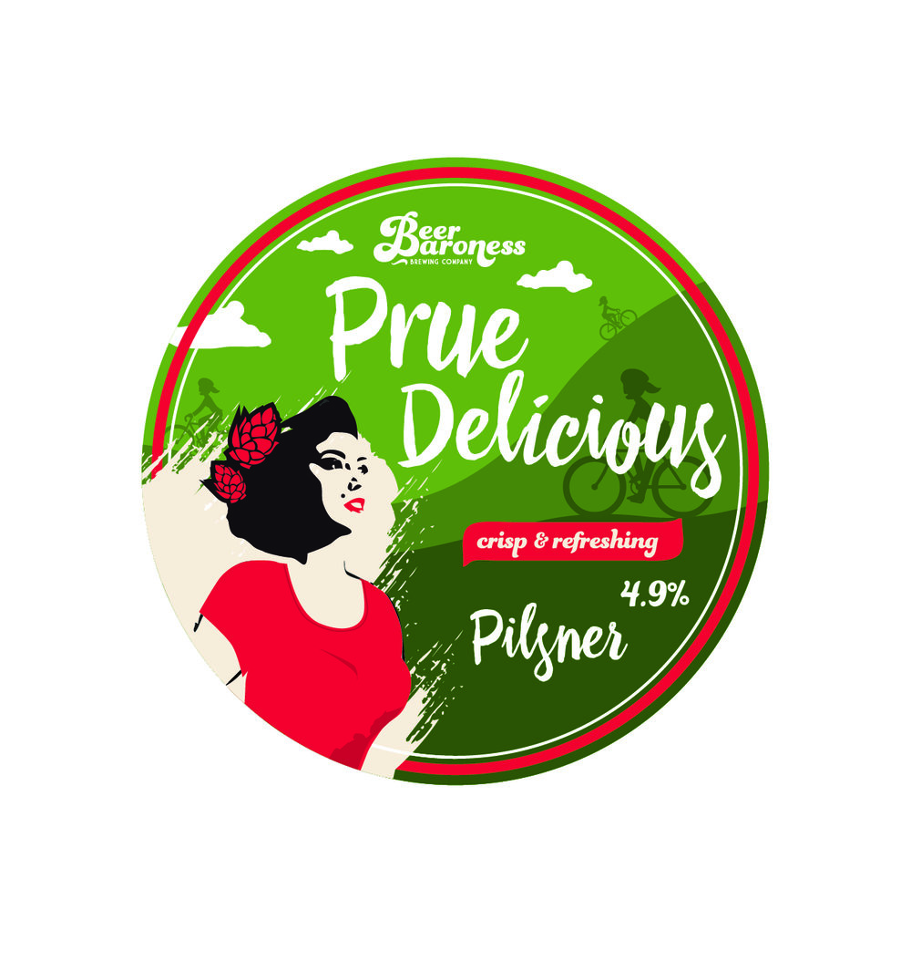 DD004012 Beer Baroness Prue Delicious Pils Tap Badge Supply T2P Cropped.jpg