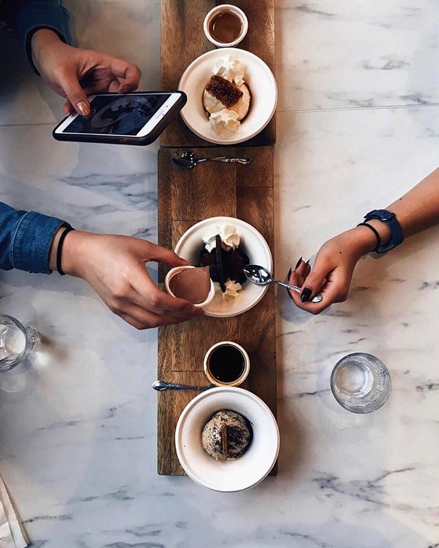 Thanks for a terrific Saturday! 🍦☕️ (photo by @jocelynnnlo)