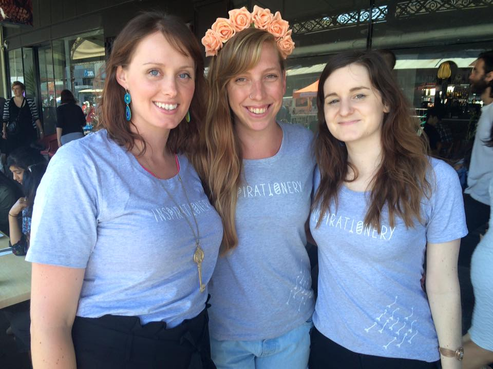 Team Inspirationery at North Melbourne Spring Fling Festival - Jessica Ivers, Tonielle Purdy & Lana Weal.