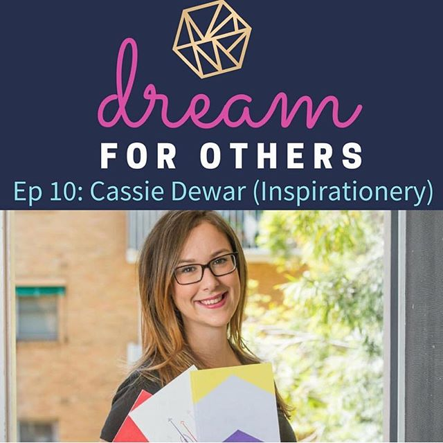 Last week Inspirationery Founder, Cass, was interviewed by @naomilarnold on the #DreamForOthers podcast 🌟 the episode focuses on following what inspires you and doing good in ways that are unique to you. You can listen to the episode through iTunes now.
