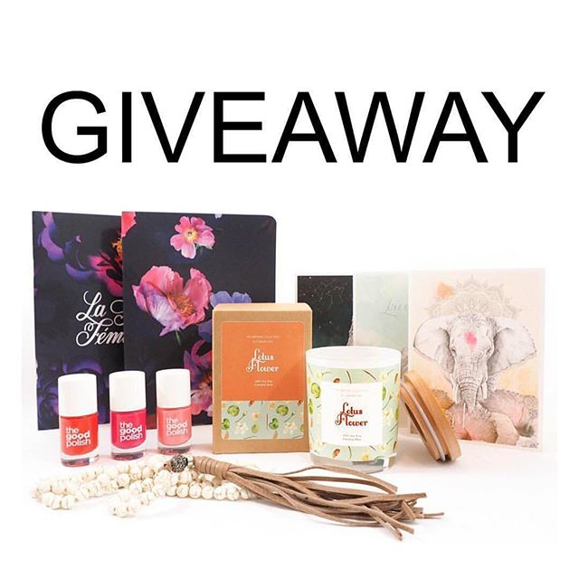 COLLAB GIVEAWAY 💕 We're so excited to have teamed up with these gorgeous brands in our Giveaway! With Christmas over and the New Year just starting, our giveaway is filled with beautiful, hand-picked gifts just for YOU! Our amazing giveaway includes: ⭐️A choice of any soy candle from @collectiveone_ Harmony Collection ⭐️A Sally Howlite White Necklace with Leather Tassel valued at $120 from @templesandmarkets ⭐️ Three cruelty free nail polishes from @thegoodpolish ⭐️Trio of Notebooks from the La Force Feminine Collection by @inspirationery ⭐️ Six assorted Art Cards designed and printed by @billiehardycreative  TO ENTER: - Like this image - Tag one friend in the comments below - Tap the image to find out which accounts to follow next - Be sure to follow each account - Continue around the loop till you get back to the start! - Entries close on 24/01/17 at midnight AEST - Our lucky winner will be announced on 25/01/17 at 7pm. Australian Residents Only Good Luck!! This giveaway is in no way sponsored, administered, endorsed or associated with Instagram. Entrants confirm that they are 18yrs+, release Instagram of any responsibility, and agree to Instagrams terms of use.