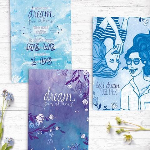 Beyond excited to show you our latest collaboration! We've been working behind the scenes with the inspiring @naomilarnold on the beautiful Dream For Others notebook range.  Printed by yours truly, these notebooks are eco-friendly, ethically made and fund girls education. Available now from: http://www.naomiarnold.com/shop/  Shout out to the other wonderful people involved including Lee Simmons the incredible designer, communication consultancy Freethinker Co., and illustrator Jane Illustrates. Cass x #Dreamforothers #makeyourmark #inspirationery #custom #socialchange #socialimpact #socialenterprise #socent #notebooks #dream #collaboration