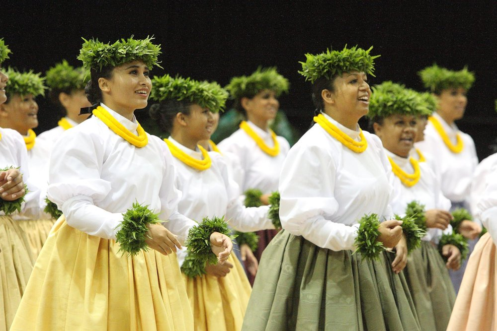 This international hula competition includes both traditional and contemporary hula styles, featuring male groups, female groups, individual chanters, and Kupuna Wahine (senior women) groups. A colorful event steeped and based on the culture of the indigenous Hawaiian people, now embraced by people around the world. Past participants have come from Canada, Japan, Mexico, California, Nevada, Texas and Hawai'i. Hula, created in Hawai'i, is alive and thriving around the world.