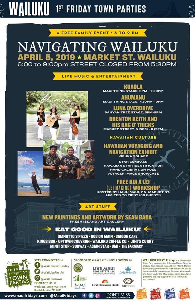 214eef592 Wailuku 1st Friday Town Parties - Maui