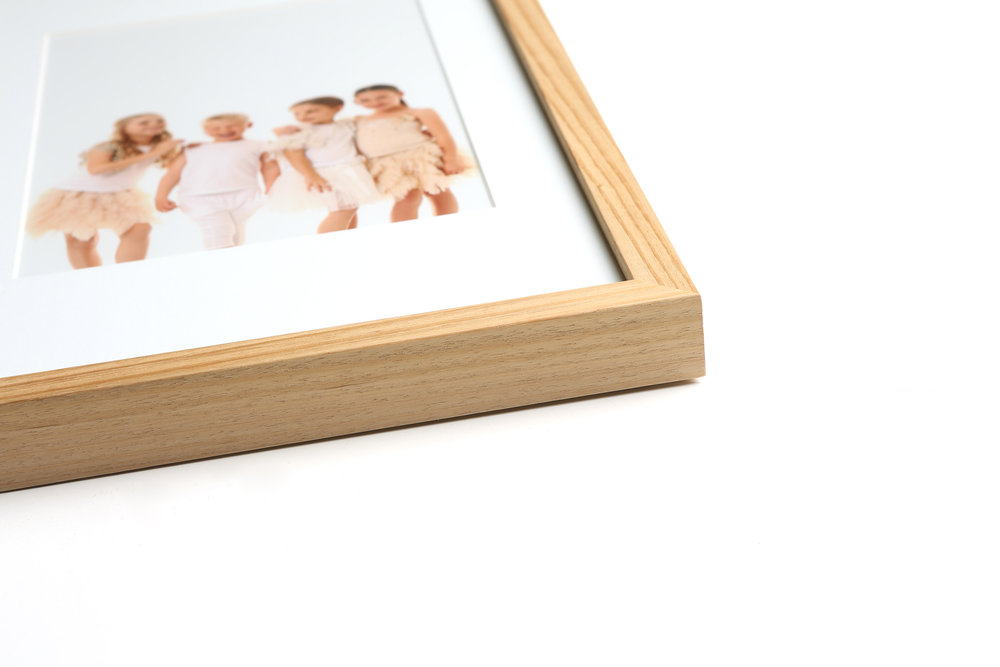 Custom framing - Available in a selection of contemporary colours & styles, each frame is constructed using archival materials and sealed to prevent damage to your prints over time.Prices from $325 (including print)Any image finished in a custom frame also includes a digital copy of that image, printable to the size ordered.