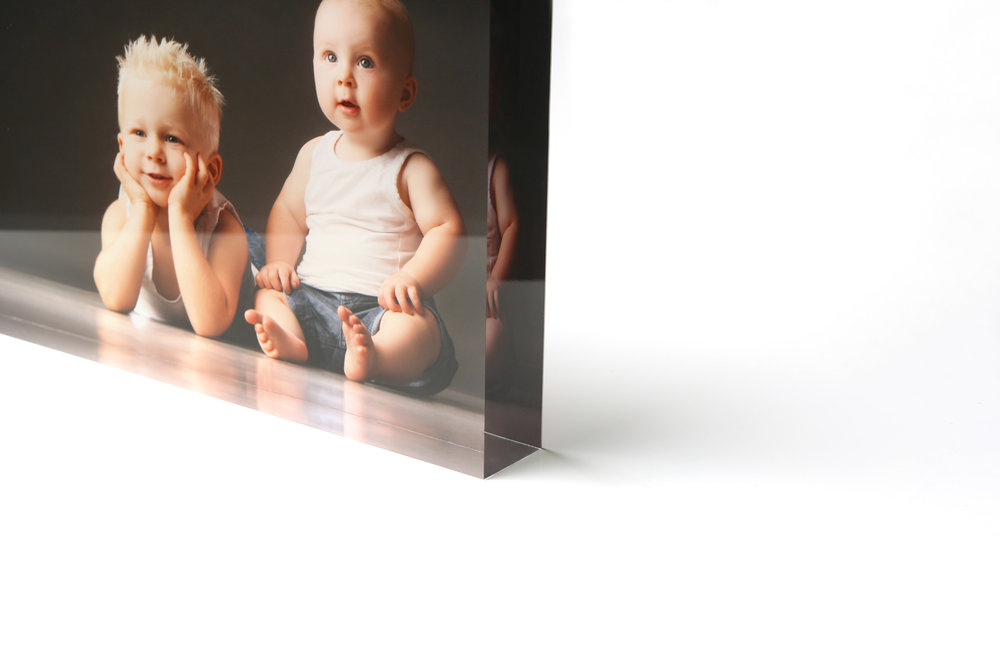 Block acrylics - Cut, polished and carefully mounted by hand - block acrylics are a modern and unique way to display photos without hanging them on the wall. Available in 30mm and 40mm thicknesses.Prices from $380Any image finished as a block acrylic also includes a digital copy of that image, printable to the size ordered.