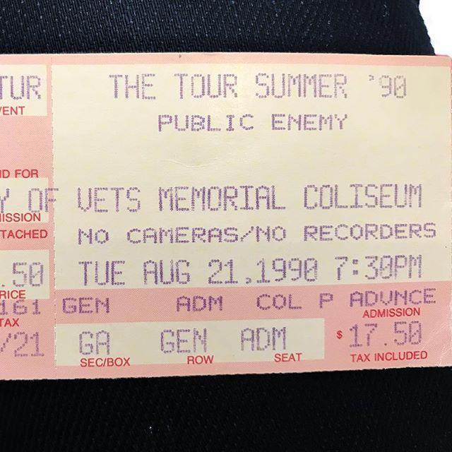 Memories. #publicenemy #concert #phoenix #1990