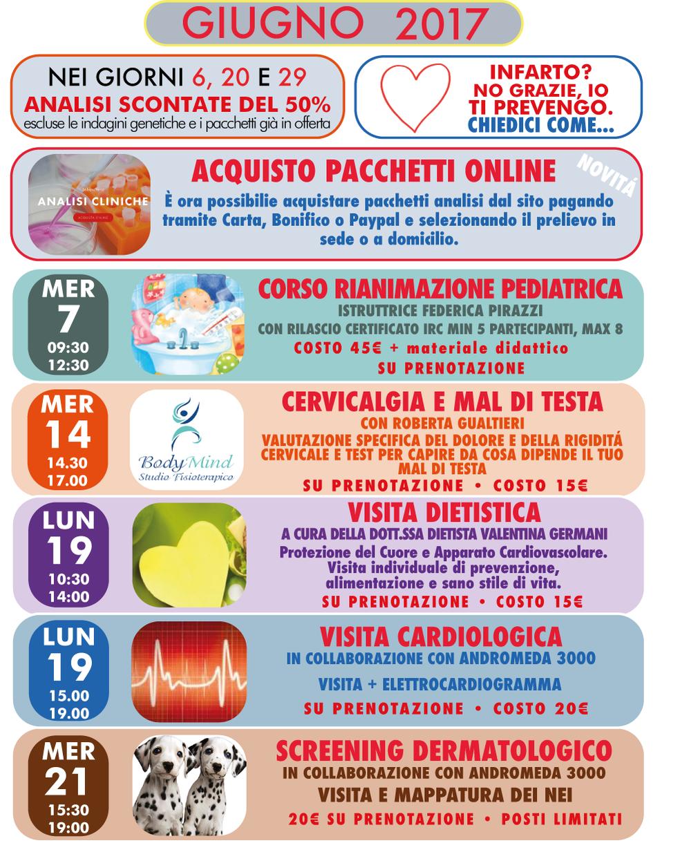 Eventi offerte giugno 2017 Centro Analisi Piave