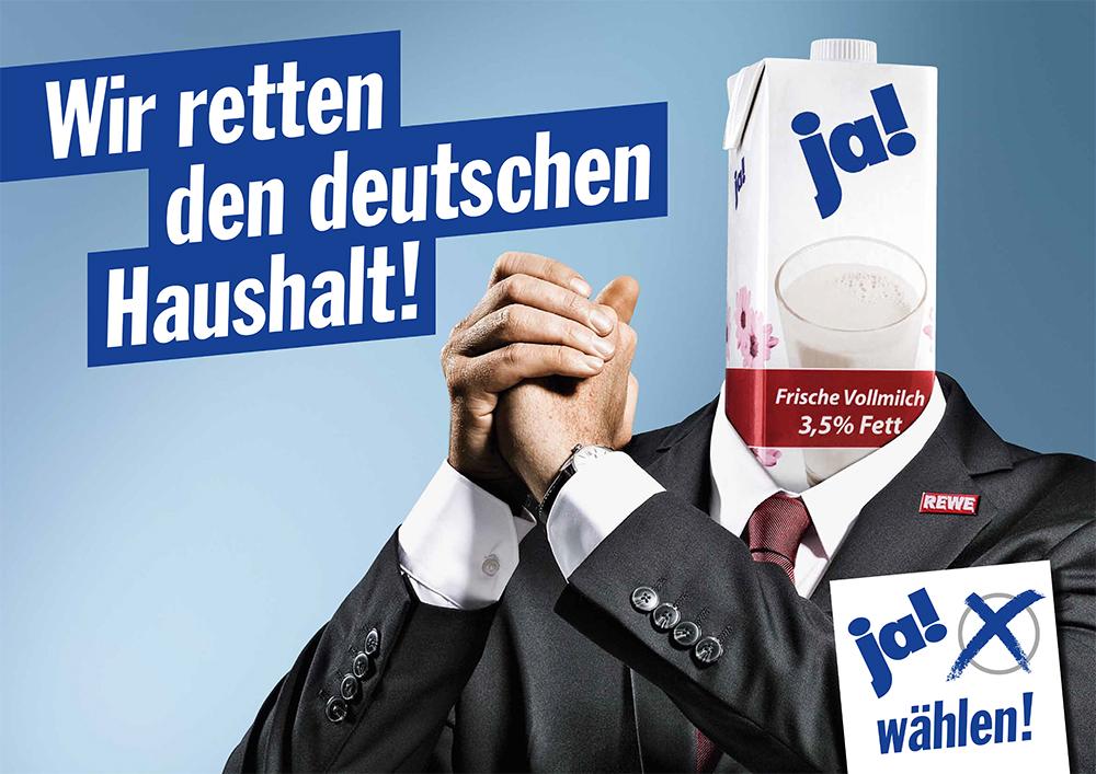 """We save the german budget."""